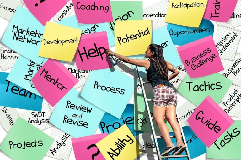 How to Write a Resume -- sticky notes of positive words